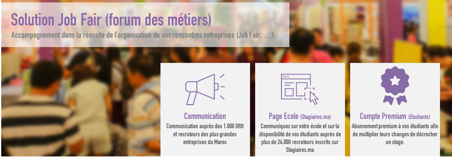 Solution Job Fair (forum des métiers)